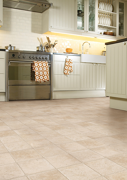 Cushion vinyl home office or commercialvince mantle flooring for Cushion floor tiles kitchen