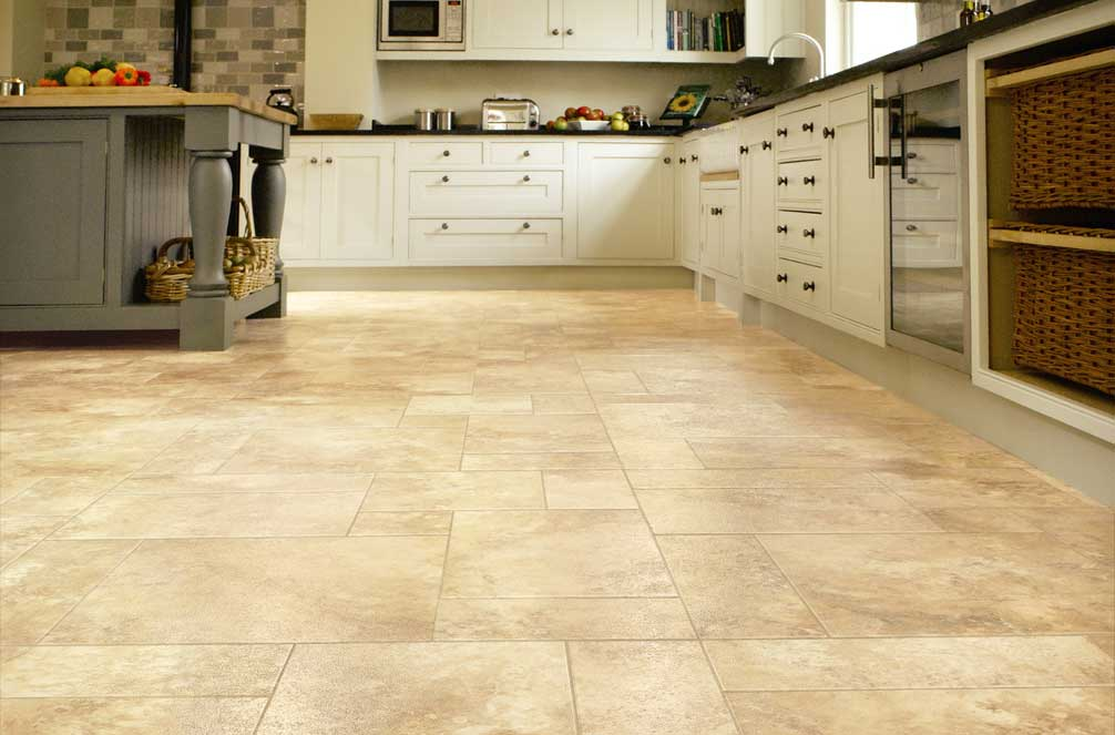 Luxury vinyl tiles lvt flooring commercial for Vinyl kitchen floor tiles
